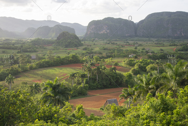 View of the beautiful valley of Vinales, Cuba