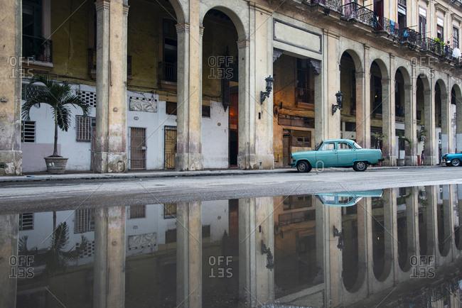 May 30, 2017: Havana, Cuba, after a spring rain