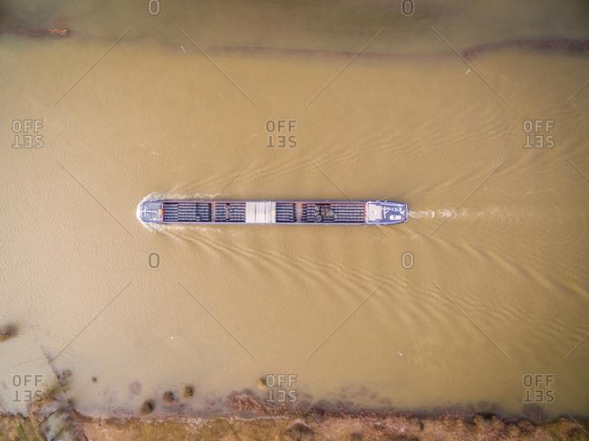 river barge stock photos - OFFSET