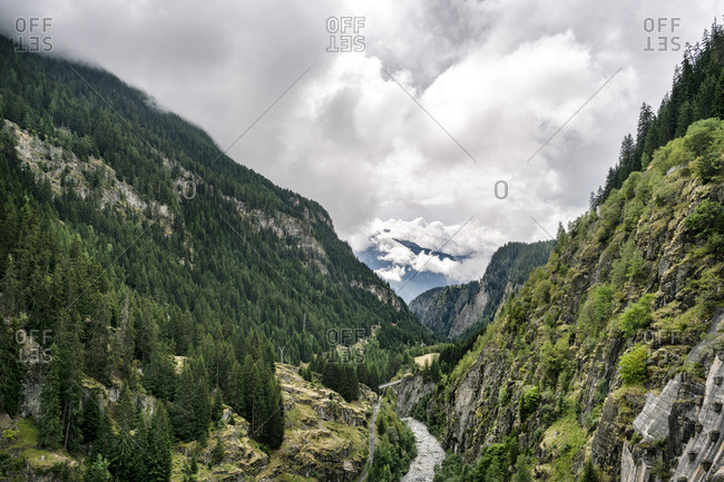 Switzerland- Valais- mountainscape