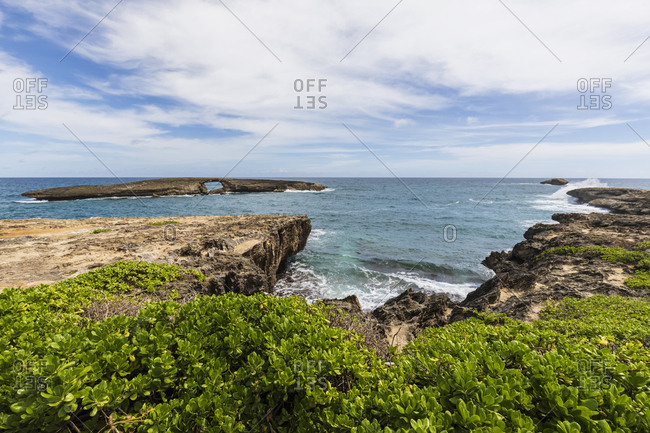 USA- Hawaii- Oahu- Laie Point- Kukuihoolua Island