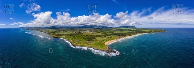 USA- Hawaii- Kauai- Kauai Multiuse Path- Kealia Beach- Aerial view