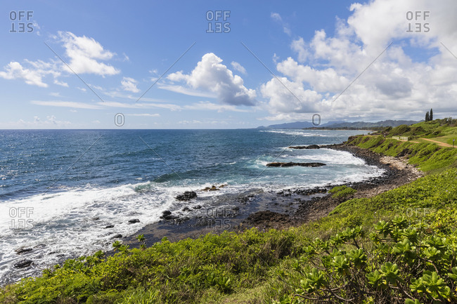 USA- Hawaii- Kauai- Kauai Multiuse Path- Pacific coast
