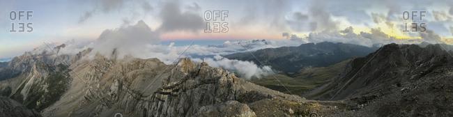 Italy- Veneto- Dolomites- Alta Via Bepi Zac- Sunset on Pale di San Martino