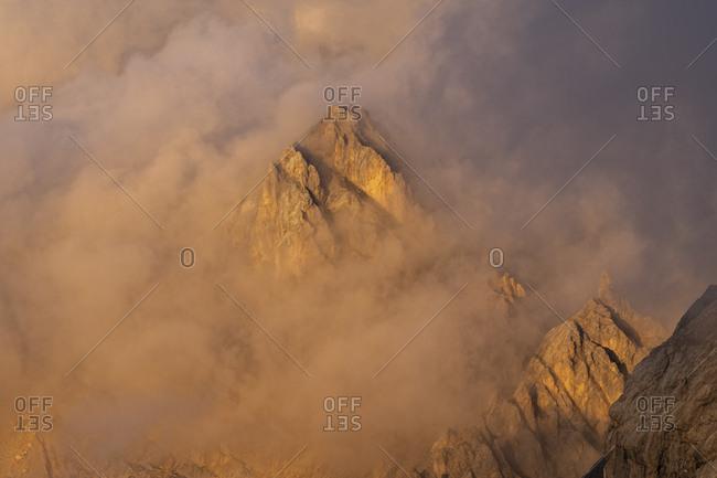 Italy- Veneto- Dolomites- Alta Via Bepi Zac- Sunset on Marmolada