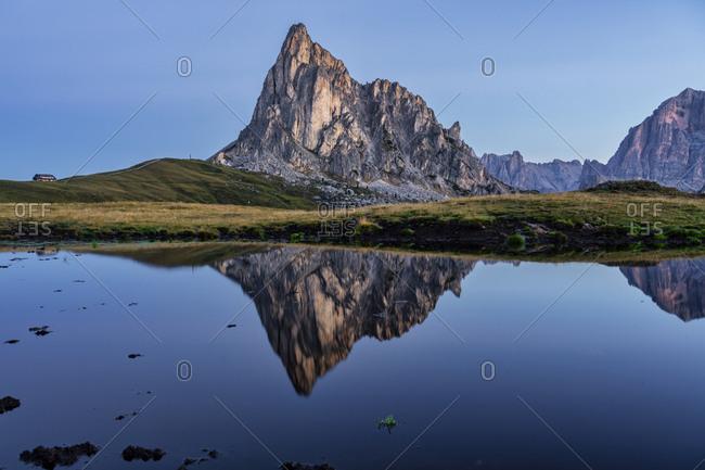 Italy- Veneto- Dolomites- Giau Pass- Gusela at sunrise