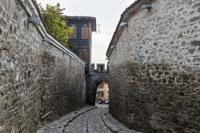Cobbled streets in the old Town- Plovdiv- Bulgaria