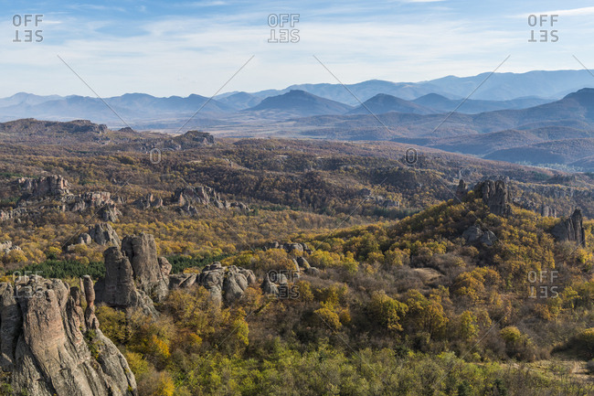 Kaleto Rock Fortress- view over the rock formations- Belogradchik- Bulgaria