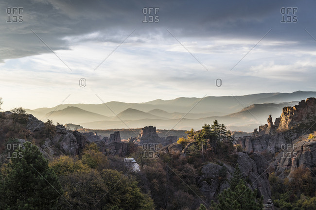 Early morning light over the rock formations of Belogradchik- Bulgaria