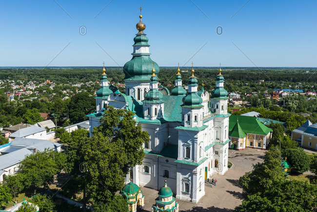 View over the Trinity Monastery- Chernihiv- Ukraine