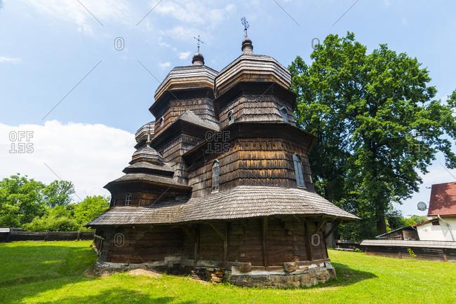 Ukraine- Carpathian mountains- Drohobych- wooden St. George's Church