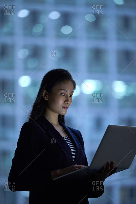 Business young woman in the office