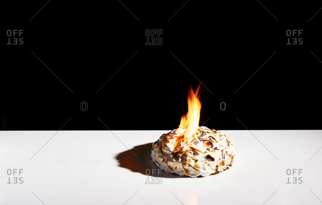 Flaming meringue