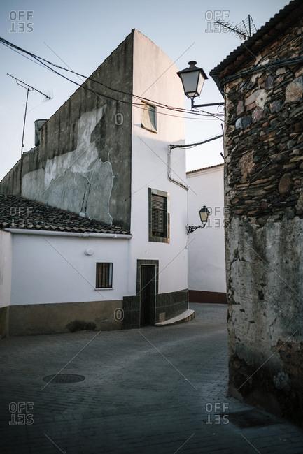 Street of a rural town in Spain