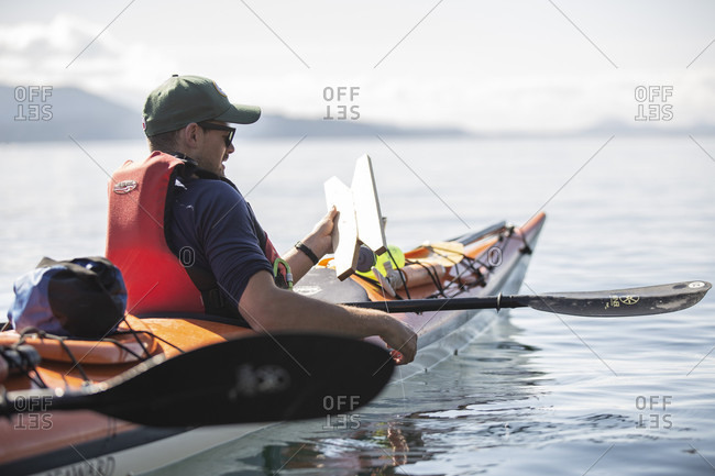 August 30, 2018: Canada, British Columbia, Kayaking in the Johnstone Strait