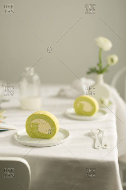 breakfast set on a table ready to eat