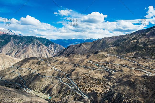Tibet mountain scenery