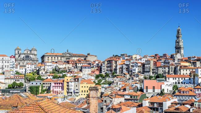 April 10, 2019: Aerial view of Porto cityscape, Porto, Portugal