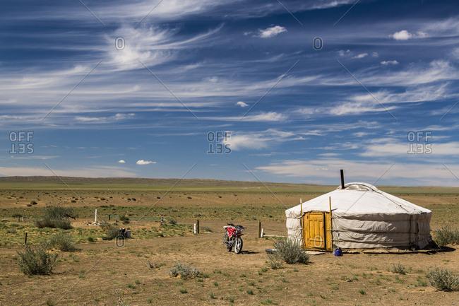 Ger on the Gobi Desert; Ulaanbattar, Ulaanbaatar, Mongolia