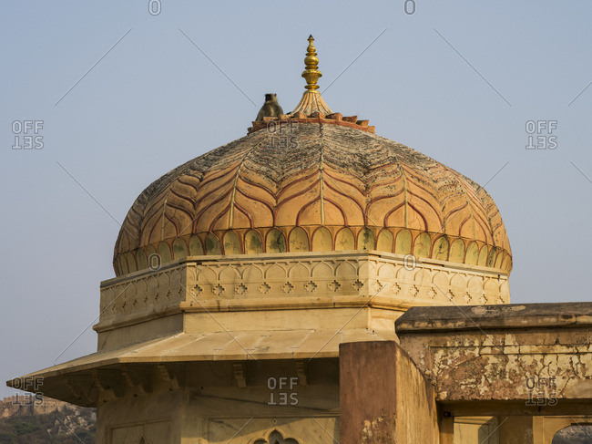 Dome on Amer Fort; Jaipur, Rajasthan, India