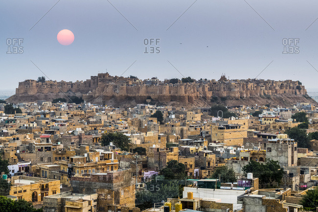 View of Fort Jaisalmer; Jaisalmer, Rajasthan, India