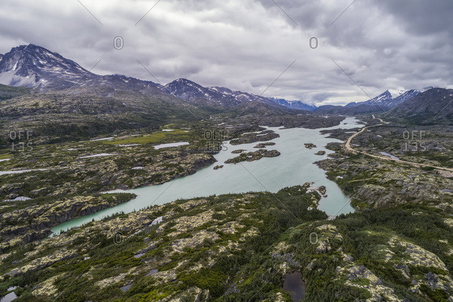Scenic views along the South Klondike Highway; Carcross, Yukon Territory, Canada