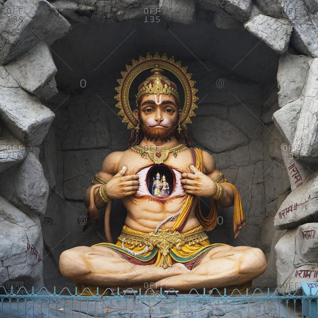 A Hindu sculpture at Parmarth Aarti Sthall, Ganges; Rishikesh, Uttarakhand, India