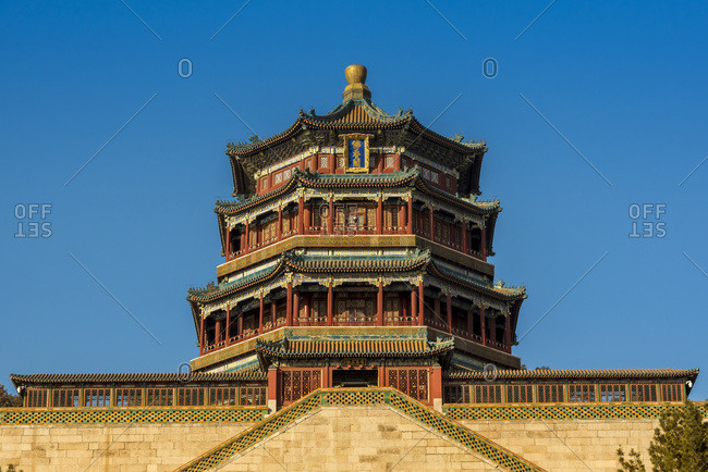 Tower of Buddhist Incense in Longevity Hill, The Summer Palace; Beijing, China