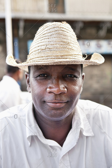 MAURITIUS,  - December 9, 2010:  street portrait of a food vendor in Port Louis