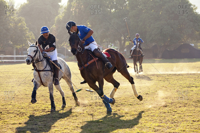 MEXICO, San Pancho, San Francisco,  - January 22, 2011: La Patrona Polo Club action from the first afternoon match