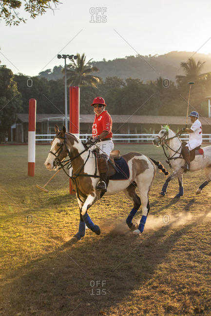 MEXICO, San Pancho, San Francisco,  - January 22, 2011: La Patrona Polo Club, Action shots from the Pro match