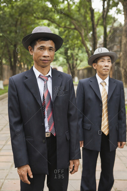 VIETNAM, Hue,  - April 16, 2010: brothers visit the Citadel from Northern Vietnam