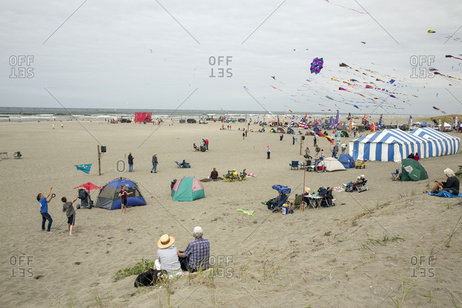 USA, Washington State, Long Beach Peninsula,  - August 21, 2014: International Kite Festival