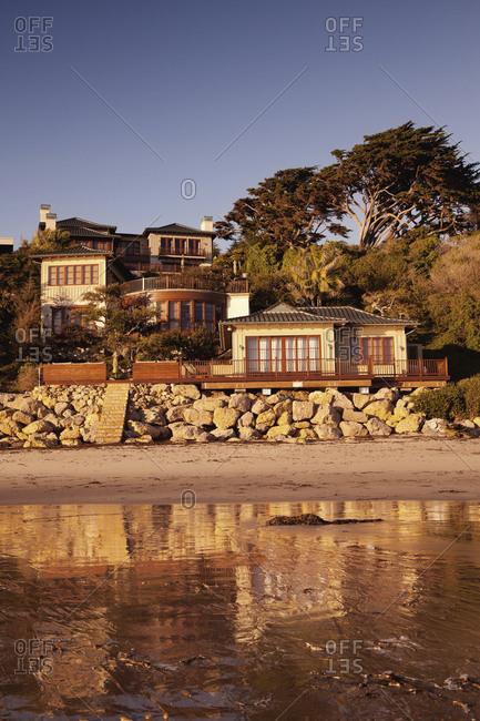 USA, California, Malibu,  - October 8, 2010: Cindy Crawford's home, El Pescador Beach