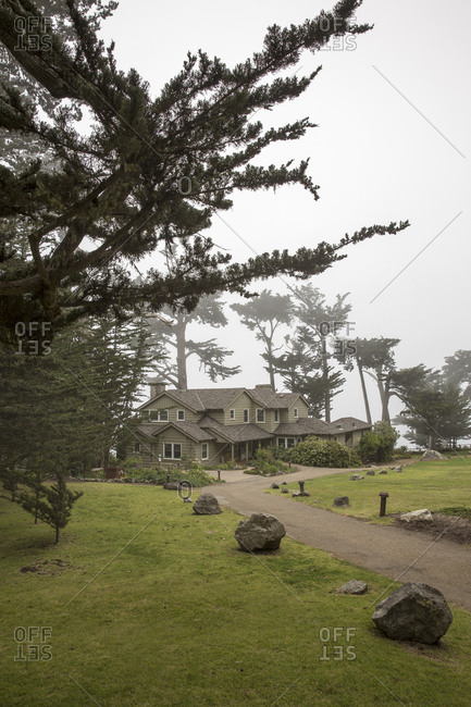 USA, California, Big Sur, Esalen,  - May 13, 2013: the Murphy House at the Esalen Institute