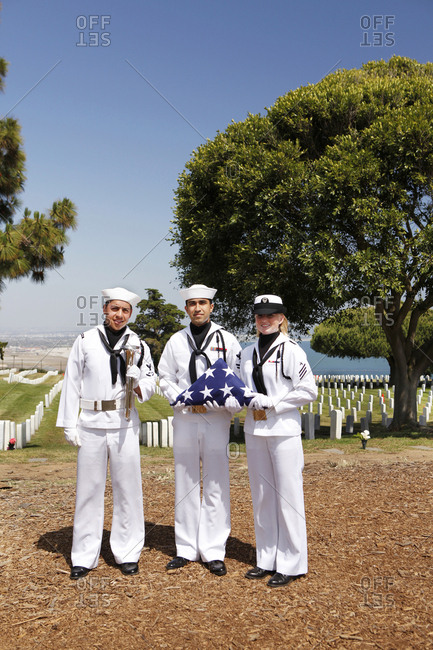 USA, California, San Diego,  - May 12, 2011: Fort Rosecrans National Cemetery
