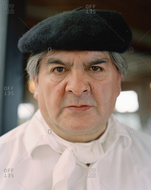 ARGENTINA, Patagonia,  - August 11, 2010: portrait of a chef at Llao Llao Hotel