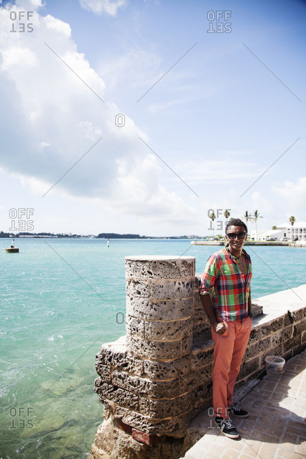 BERMUDA. St. George. - September 12, 2015:  Chef Marcus Samuelsson in St. George.