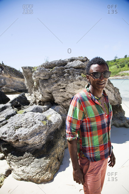 BERMUDA.  - September 12, 2015: Chef Marcus Samuelsson at the Princess Beach Club. Sheltered on Sink Bay, a private cove on South Beaches exclusive to the guests of the Hamilton Princess & Beach Club Hotel.