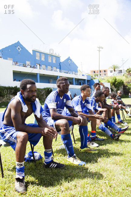 BERMUDA, South Hampton.  - September 13, 2015: South Hampton Rangers playing a game at the South Hampton Rangers Field.