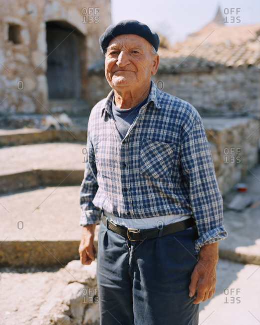 CROATIA, Hvar, Dalmatian Coast,  - September 28, 2010: Island, portrait of a local Ivan Tomisic in the island of Hvar.