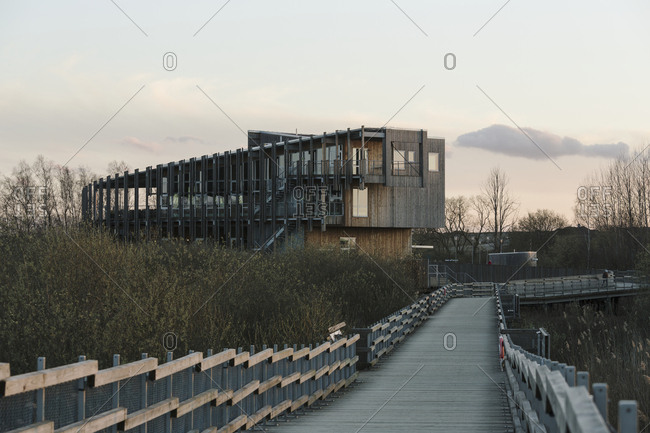 Modern wooden building - Offset Collection