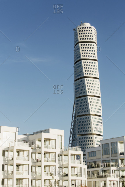 Malmo, Sweden - October 28, 2014: View of Turning Torso skyscraper