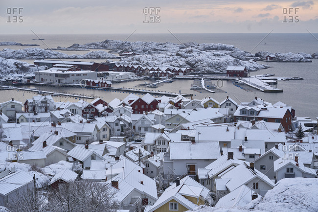 Sweden - May 15, 2009: Townscape in winter