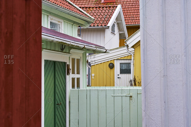 Colorful house fronts