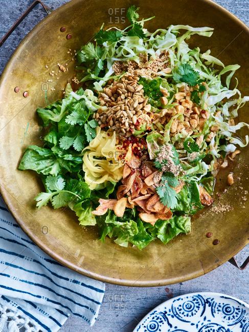 Close up shot of Ginger salad
