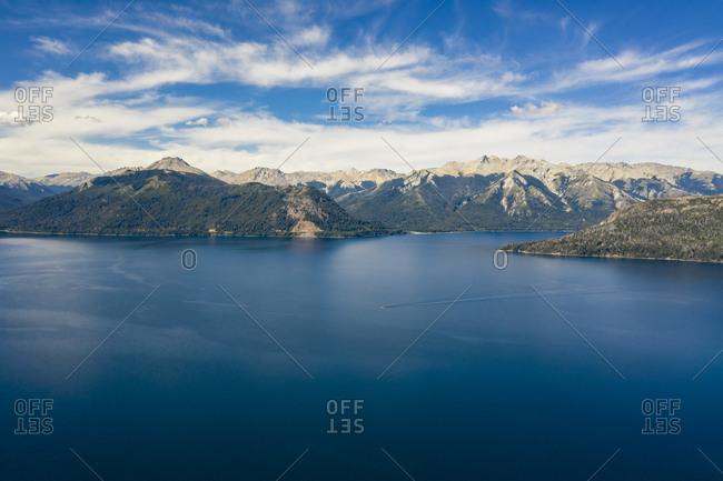 Nahuei Huapi Lake and mountains in Patagonia, Argentina