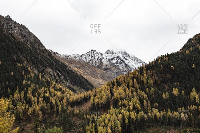Mountain landscape near Niederthai, Otzal, Tyrol, Austria