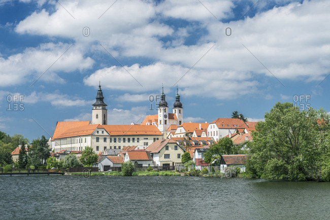 Strahov Monastery on lake, Prague, Central Bohemia, Czech Republic,Prague, Central Bohemia, Czech Republic