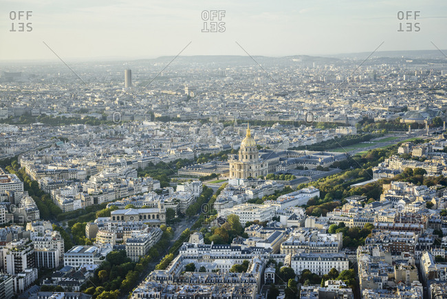 Aerial view of Paris cityscape, Paris, Ile de France, France,Paris, Ile de France, France